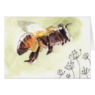 Carte de voeux d'abeille
