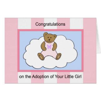 Carte de voeux d'adoption de fille