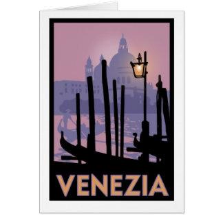 Carte de voeux d'affiche de Venise