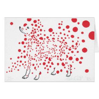 Carte de voeux dalmatienne tachetée de chien