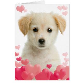 Carte de voeux d'amour de chiot