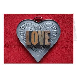 carte de voeux d'amour de coeur de bidon