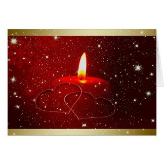 Carte de voeux d'amoureux de Noël