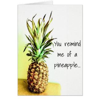 Carte de voeux d'ananas