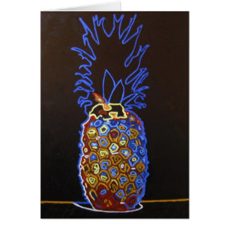 Carte de voeux d'ananas/invitation au néon