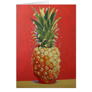 Carte de voeux d'ananas/invitation rouges