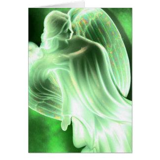 Carte de voeux d'ange de la terre