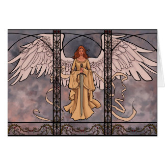 Carte de voeux d'ange gardien