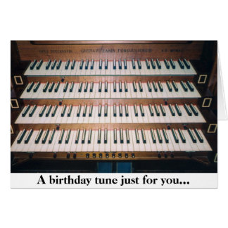 Carte de voeux d'anniversaire de clavier d'organe