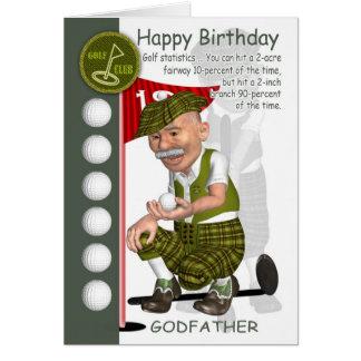 Carte de voeux d'anniversaire de golfeur de parrai