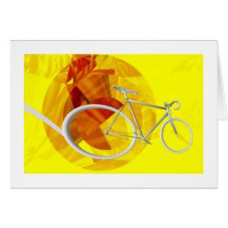 Carte de voeux d'anniversaire de la bicyclette du