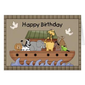 Carte de voeux d'anniversaire de l'arche de Noé