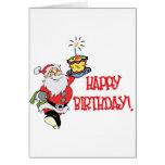 Carte de voeux d'anniversaire de Noël