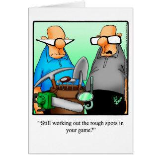 Humour golf cartes invitations photocartes et faire part for Carte de voeux humour