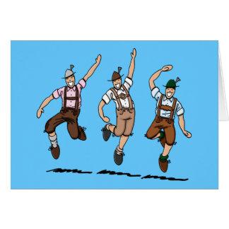 Carte de voeux dansant les hommes bavarois de