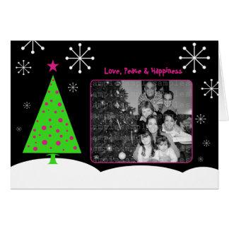 Carte de voeux d'arbre de mod de Noël