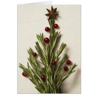 Carte de voeux d'arbre de Noël de Rosemary