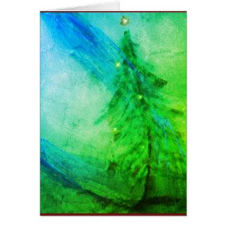 Carte de voeux d'arbre de Noël de splendeur de