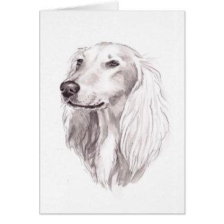 Carte de voeux d'art de chien de Saluki