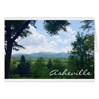 Carte de voeux d'Asheville, la Caroline du Nord