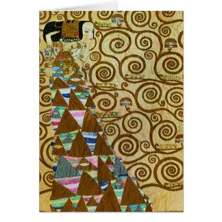 Carte de voeux d'attente de Gustav Klimt