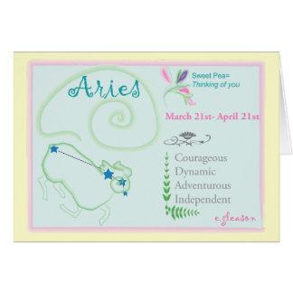 Carte de voeux d'avril de Bélier