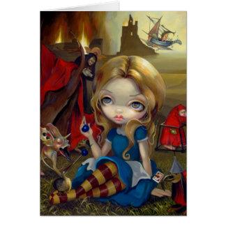 """Carte de voeux de """"Alice et des monstres de Bosch"""""""
