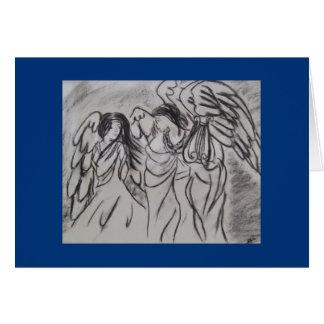 """Carte de voeux de """"anges"""""""