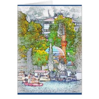 Carte de voeux de baie de Bebek, Istanbul