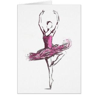 Carte de voeux de ballerine