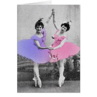 Carte de voeux de ballerines de meilleurs amis