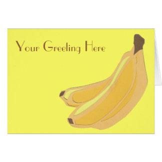 Carte de voeux de banane