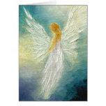 """Carte de voeux de beaux-arts de """"ange"""""""