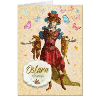 Carte de voeux de bénédictions d'Ostara