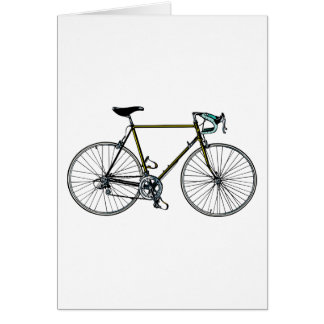 Carte de voeux de bicyclette