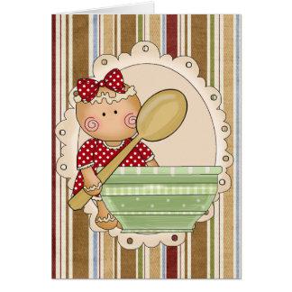 Carte de voeux de biscuit de pain d'épice de Noël