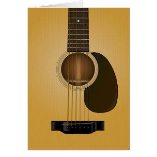 Carte de voeux de blanc de guitare acoustique