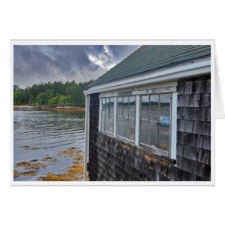 Carte de voeux de Boathouse de rebords de vacances