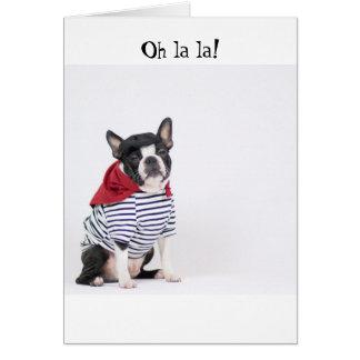 Carte de voeux de Boston Terrier