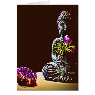 Carte de voeux de Bouddha d'améthyste