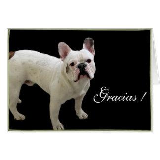Carte de voeux de bouledogue français de Gracias