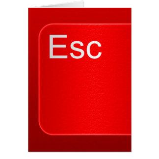 Carte de voeux de bouton d'ordinateur d'évasion