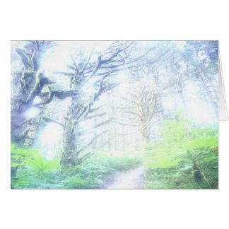 Carte de voeux de brume de matin