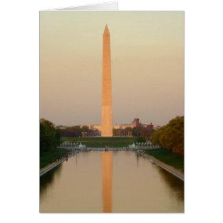 Carte de voeux de C.C de monument de Washington