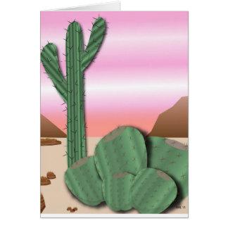 Carte de voeux de cactus de désert