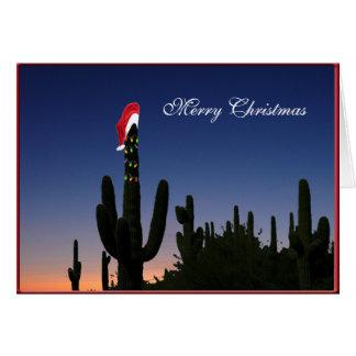 Carte de voeux de cactus de Noël