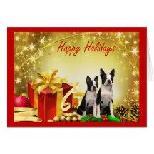 Carte de voeux de cadeaux de Noël de Boston Terrie