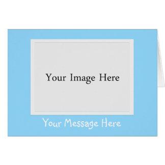 Carte de voeux de cadre de tableau de photo de ble