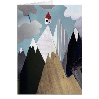 Carte de voeux de Chambre de sommet de montagne