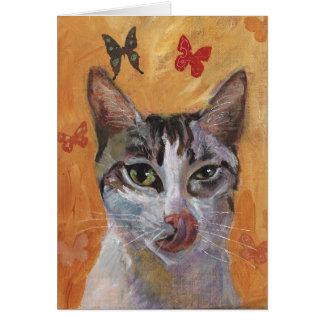 Carte de voeux de chat
